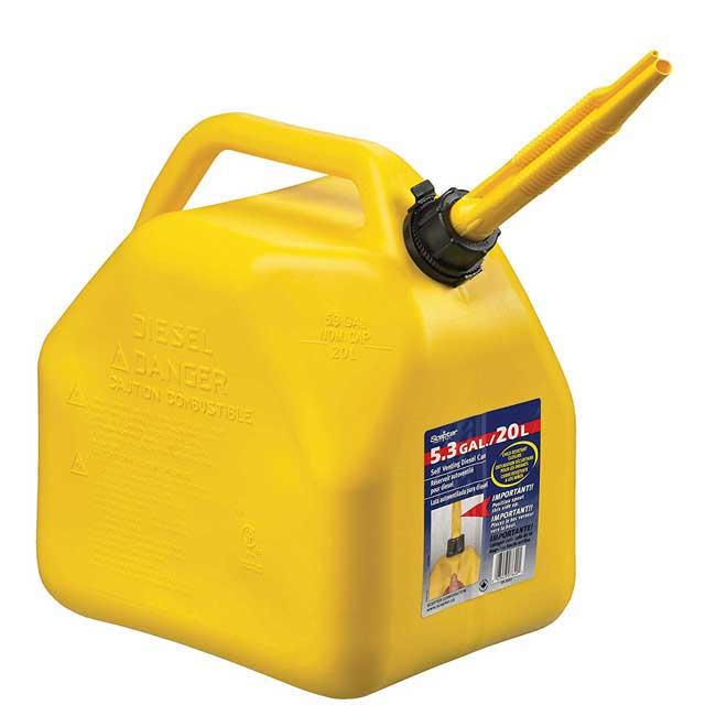 Bidon jaune pour le transport de diesel(fuel) 20 Litres Scepter