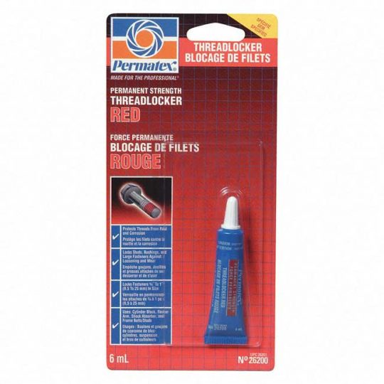 Bloqueur de filets rouge 6 ml permanent 26200 PERMATEX