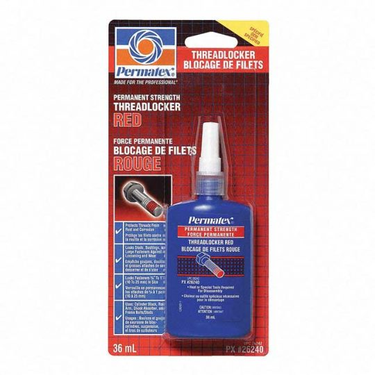 Bloqueur de filets rouge 36 ml permanent 26240 PERMATEX