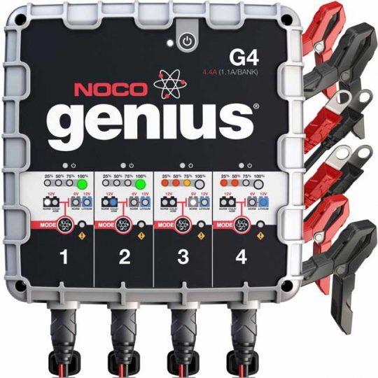 Chargeur et mainteneur ultra-sécuritaire a 4 sorties G4 NOCO genius