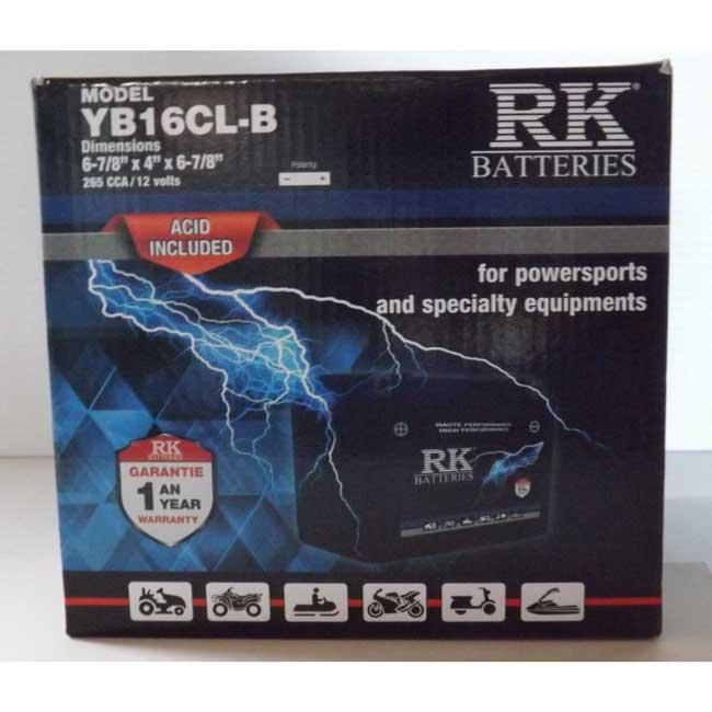 Batterie véhicule récréatif YB16CL-B , 085-035 RK-BATTERIES