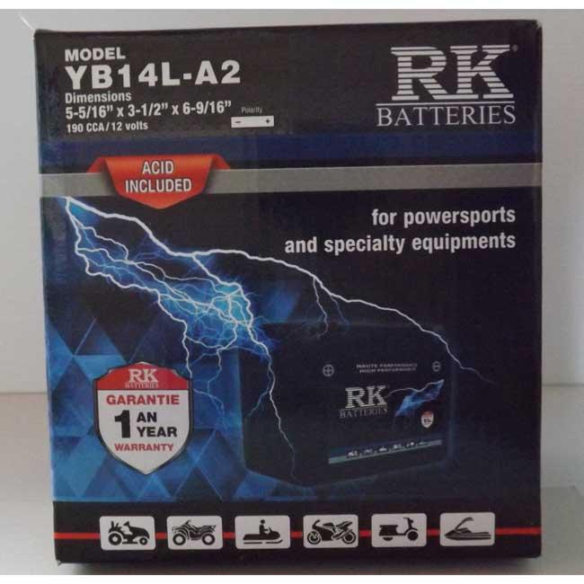 Batterie véhicule récréatif YB14L-A2 , 085-044 RK-BATTERIES