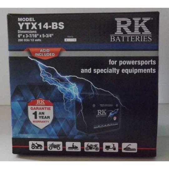 Batterie véhicule récréatif YTX14-BS , 085-030 RK-BATTERIES