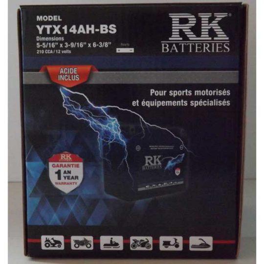 Batterie véhicule récréatif YTX14AH-BS , 085-052 RK-BATTERIES
