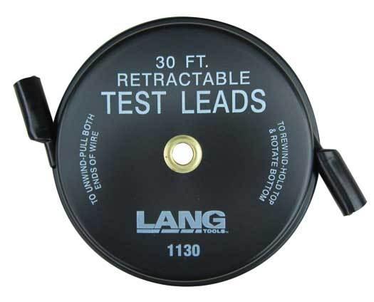 Fil pour test (test lead) rétractable 1 x 30' 1130 LANG