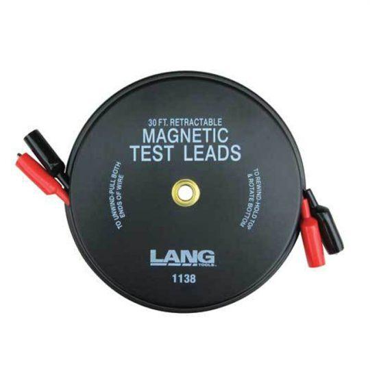 Fils pour test (test lead) rétractable magnétique 2 x 30' 1138 LANG