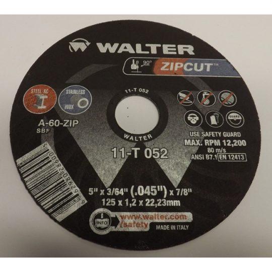 Disque de tronçonnage ZIPCUT 11T052 WALTER