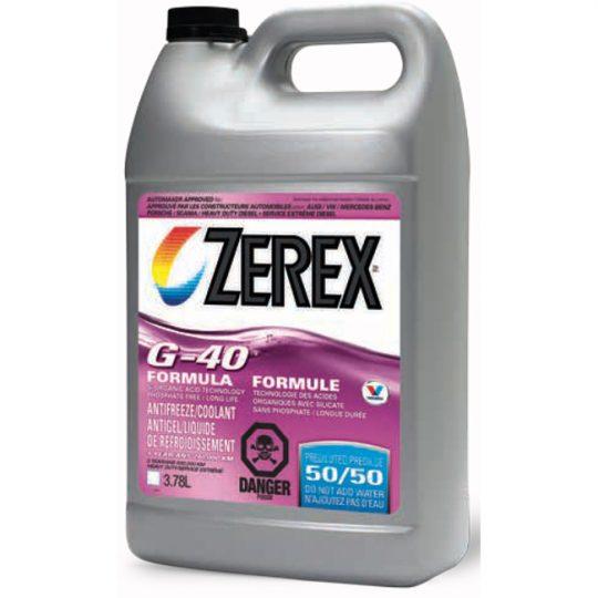 Antigel / liquide de refroidissement véhicule Européen G-40 ZEREX 50/50