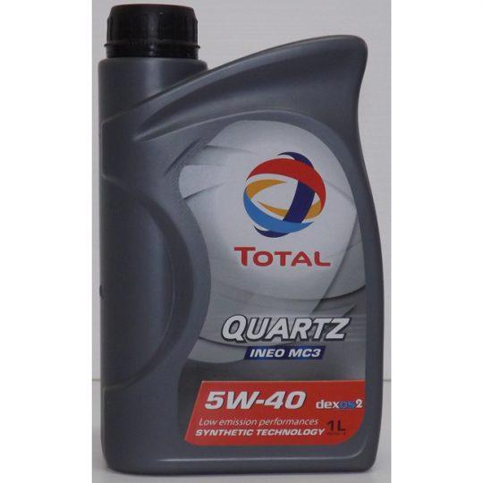 QUARTZ INEO MC3 5W-40 LITRE 207259 TOTAL
