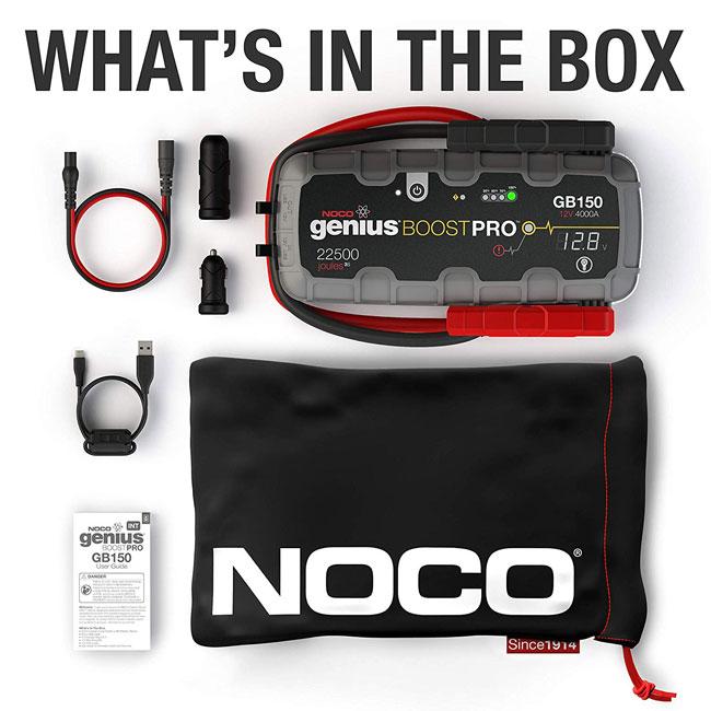Survolteur de batterie ultra-sécuritaire 4000 ampères GB150 NOCO genius