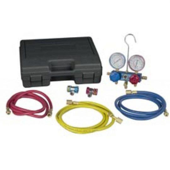Manifold en aluminium R134, jeu de flexibles et raccords 49134A ROBINAIR
