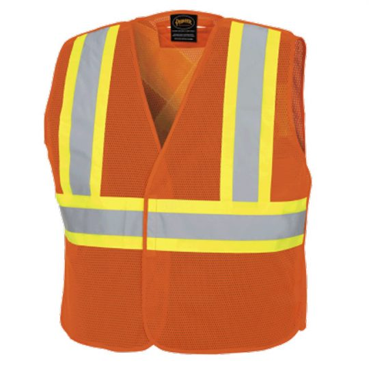 Veste de signaleur en filet orange V1030650LXL PIONEER