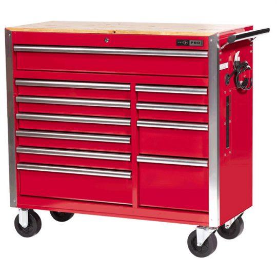Armoire sur roulettes (coffre d'outils) 11 tiroirs 42 x 18 JET 842514 Série Pro
