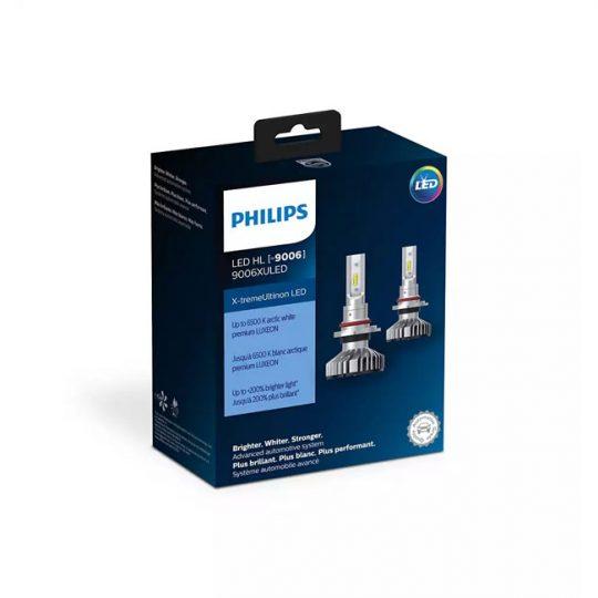 Ampoule de phare avant pour voiture 9006 Philips LED