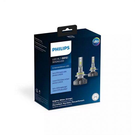 Ampoule de phare avant pour voiture 9012 Philips LED