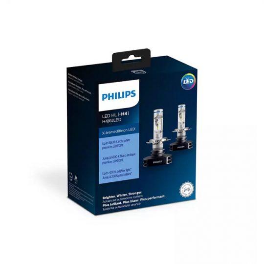Ampoule de phare avant pour voiture H4 Philips LED