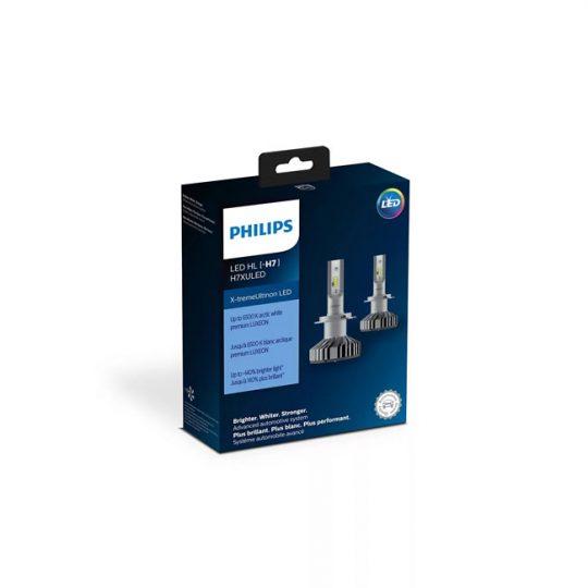 Ampoule de phare avant pour voiture H7 Philips LED