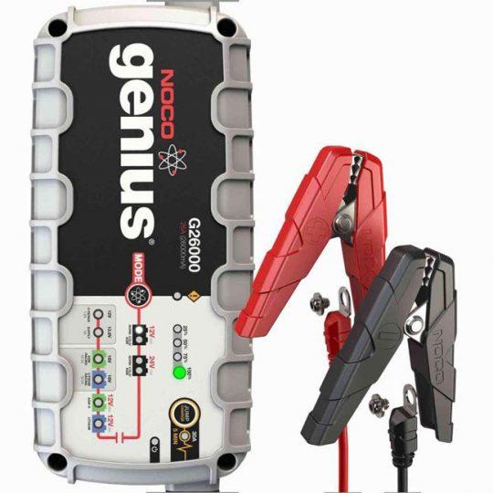 Chargeur de batterie 12V et 24V 26A avec survolteur G26000 NOCO