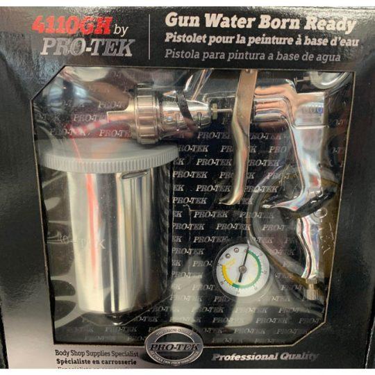 Ensemble pistolet à gravité HVLP pour peinture a base d'eau 4110GH1.4 PRO-TEK