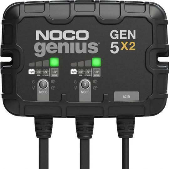 Chargeur de batterie intégré de 10 A à 2 rangées intelligent GEN5X2 NOCO